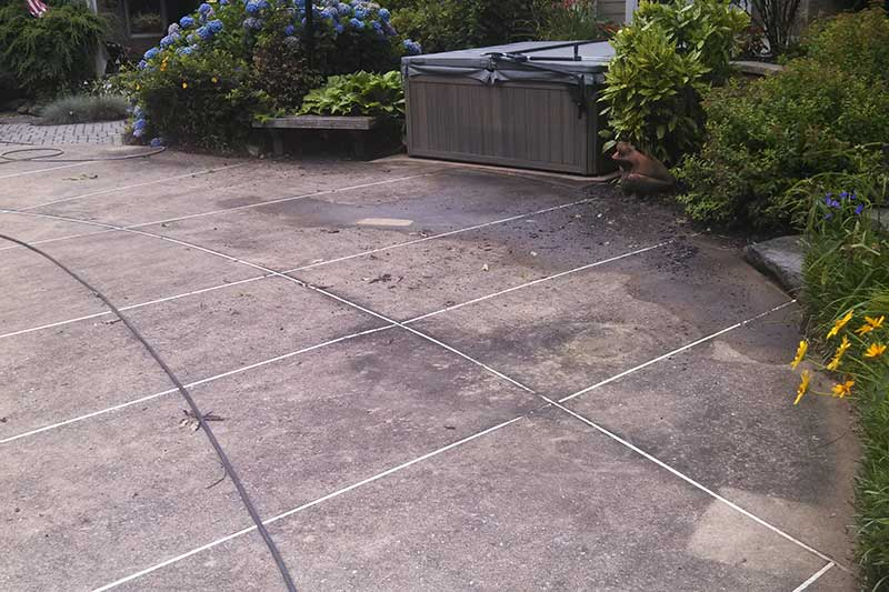 Pool Deck Cleaning & Sealing By Del Vacchio